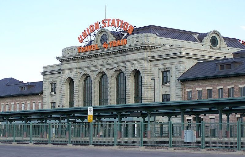 Union Station in Denver, the Mile High City in Colorado, USA