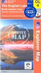 English Lakes - NW Area OS Explorer Map