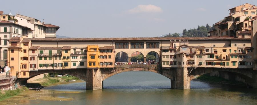 Ponte di Santa Trinita across the River Arno in Florence