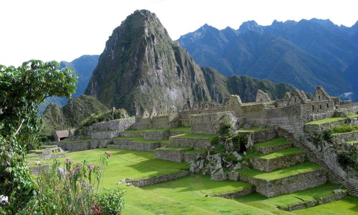 Machu Picchu in Peru - an ancient fortress city of the Incas