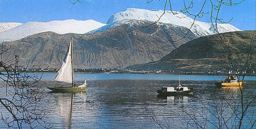 Ben Nevis above Fort William and Loch Linnhe