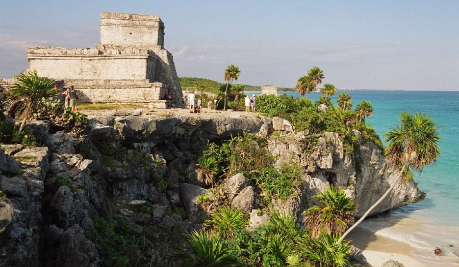 The main temple at Tulum in Yucatan, Mexico