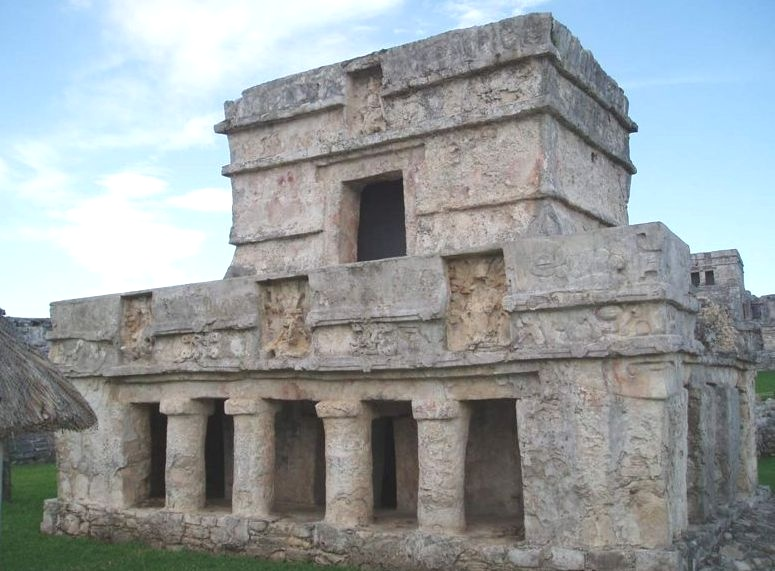 """Temple of the Frescos"" at Tulum in Yucatan, Mexico"