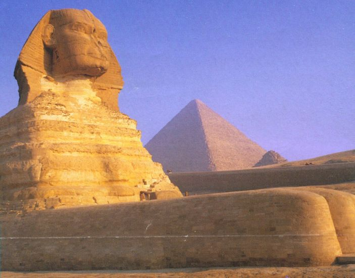 The Sphinx in Cairo - capital city of Egypt